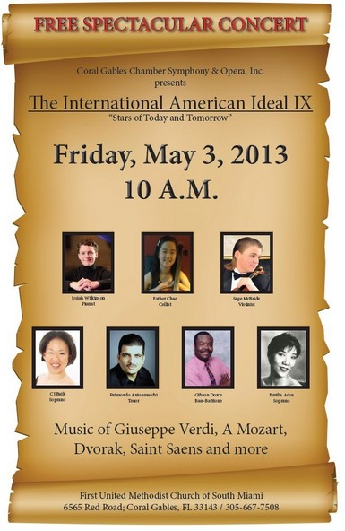 Coral Gables Opera American Ideal 9 - 5 May 2013